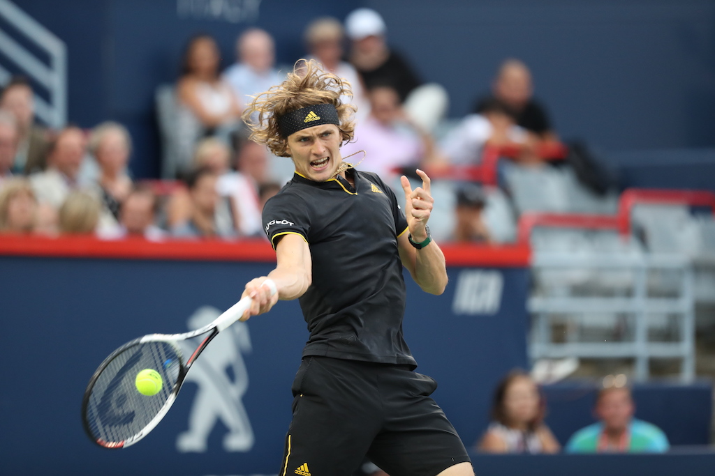 Zverev in action in 2018