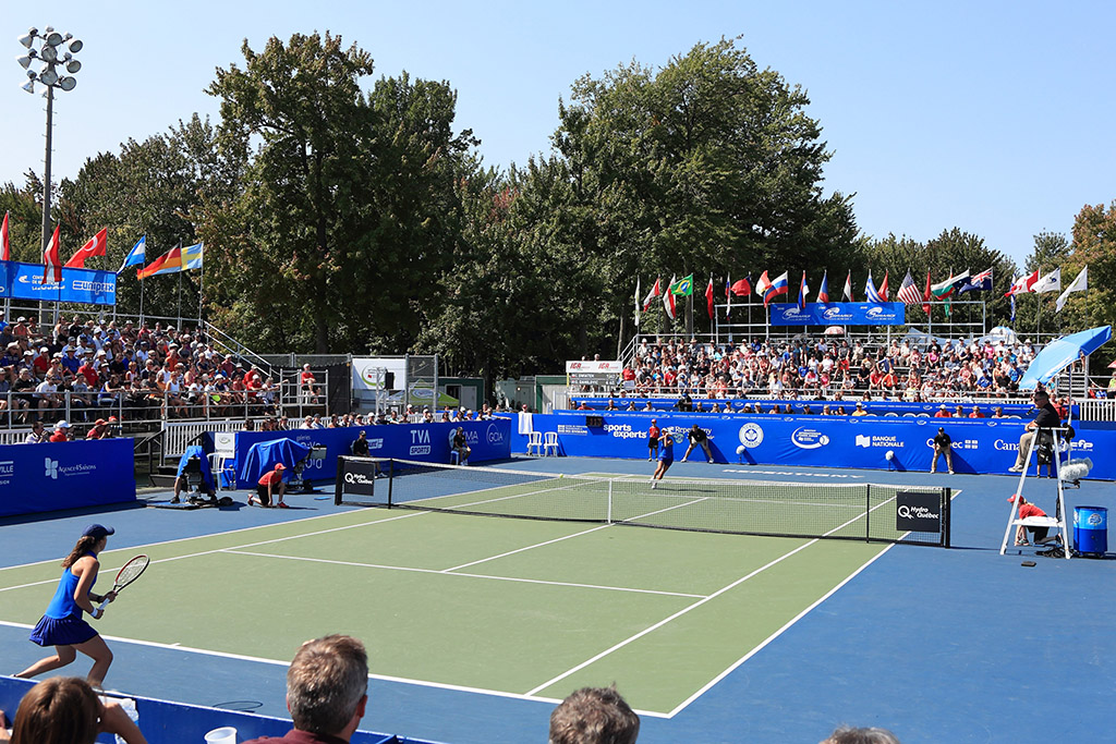 Central court of the National Bank Canadian Junior Open Championships at Larochelle Park in Repentigny